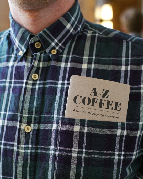 A-Z Coffee - Book in breast pocket