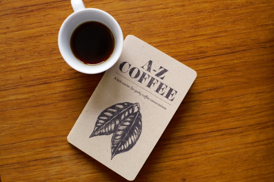 A-Z Coffee - Book with coffee